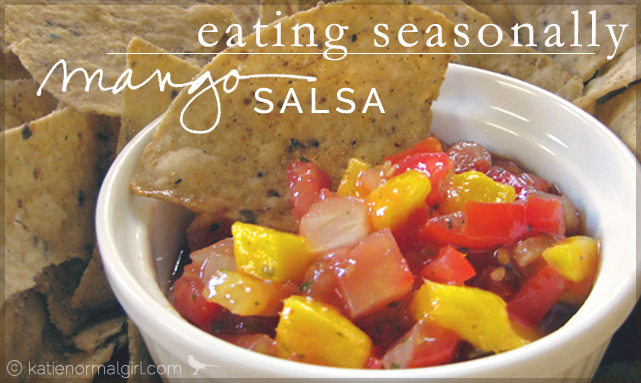 Eating Seasonally Series-Mango Salsa from katienormalgirl.com