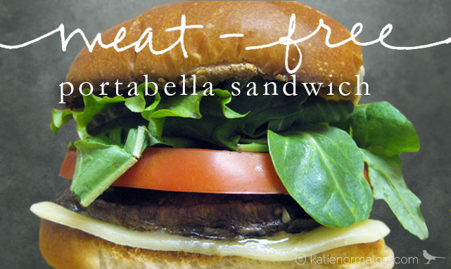 Grilled Portabella Burger from katienormalgirl.com