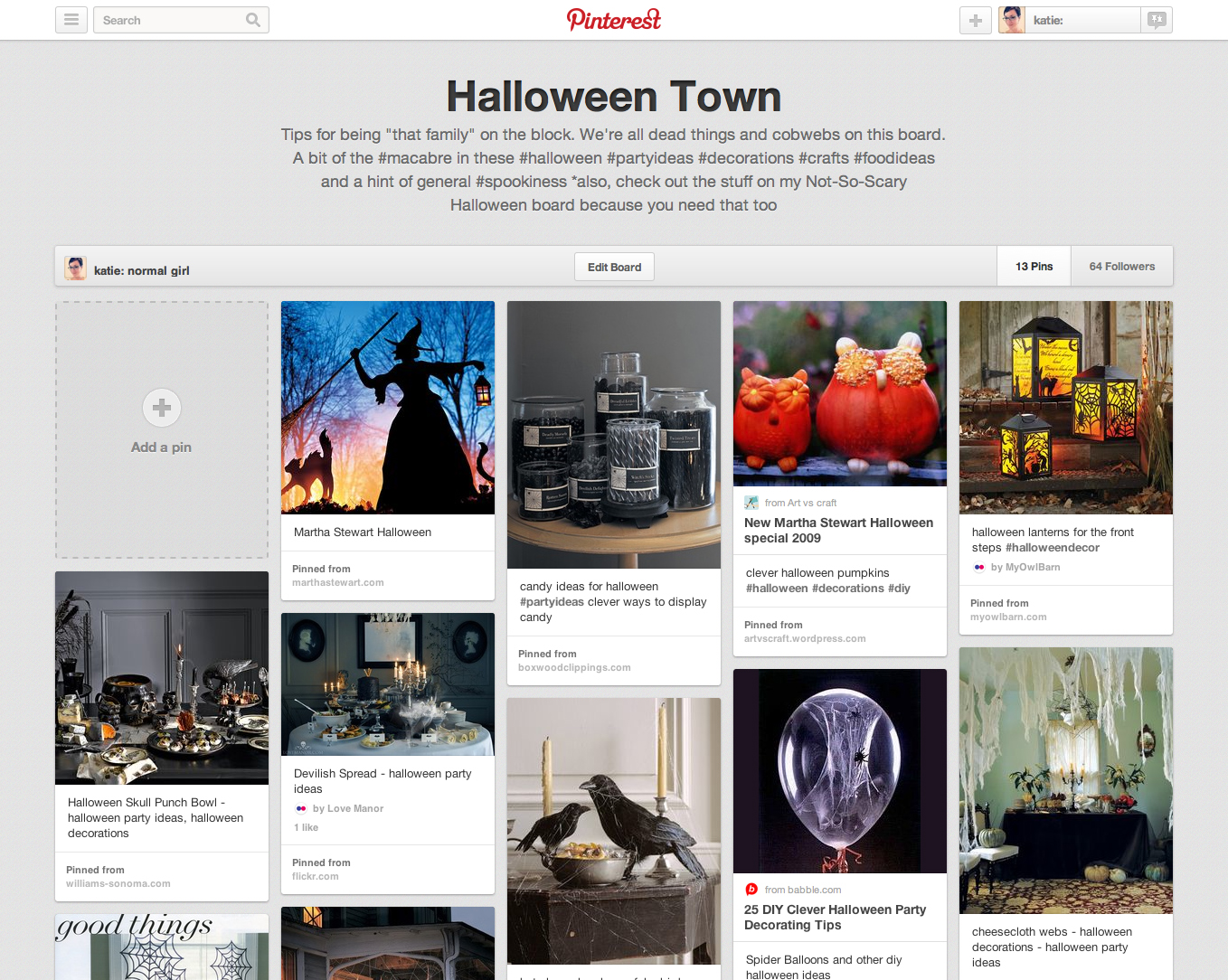 Halloween Town pinterest board from katienormalgirl.com