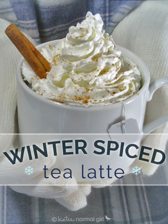 Winter Spiced Tea Latte from katienormalgirl.com #cozy #beverages