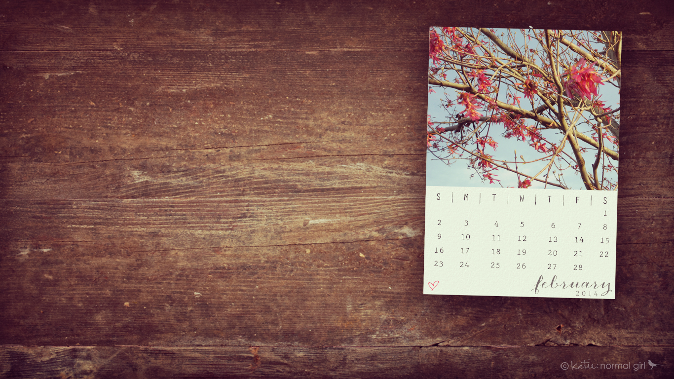 February Calendars and Wallpaper – katie: normal girl