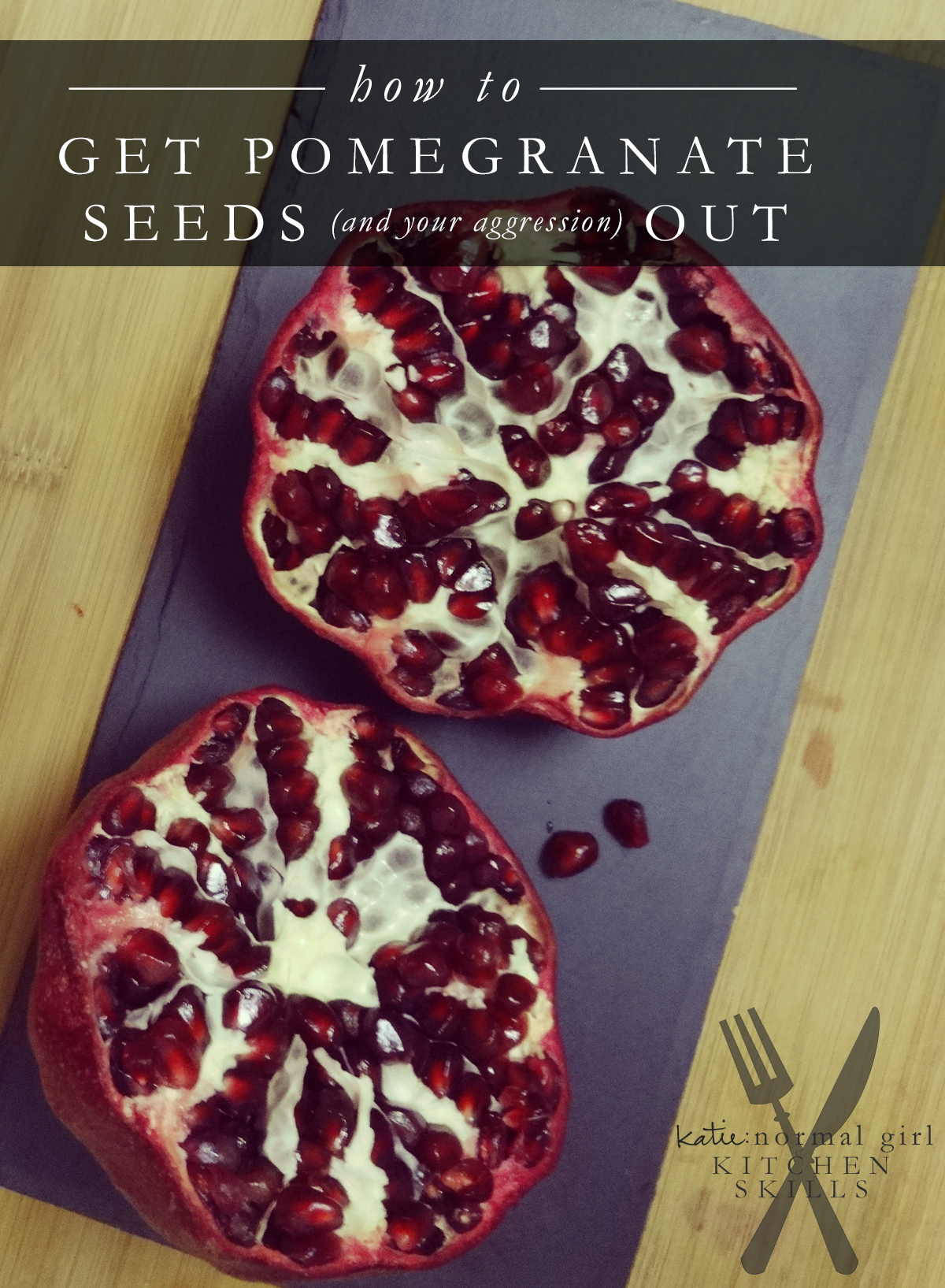 How to get pomegranate seed out from katienormalgirl.com | #howto #lifeskills #food