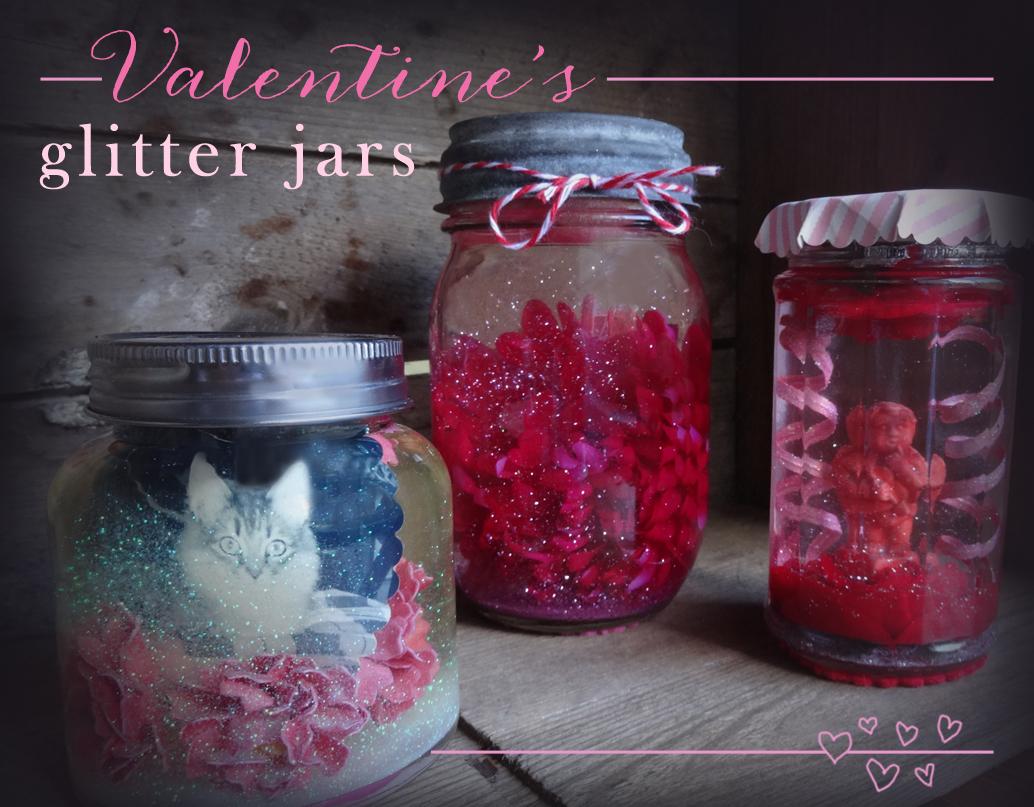 Valentines Glitter Jars from katienormalgirl.com