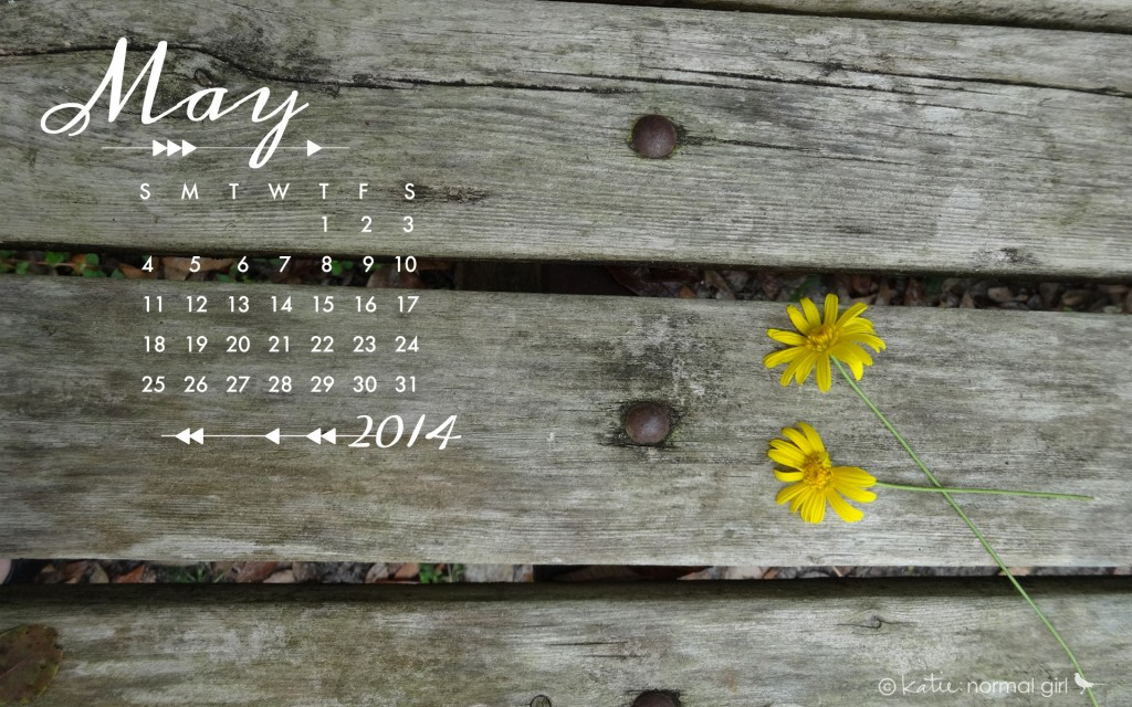 Download Gallery - Freebie May calendars and wallpaper from katienormalgirl.com | #free #downloads #calendars #wallpaper